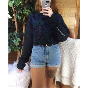 Vintage Sweaters - 🌿 Vintage Retro Cozy Abstract Hand Knit Sweater